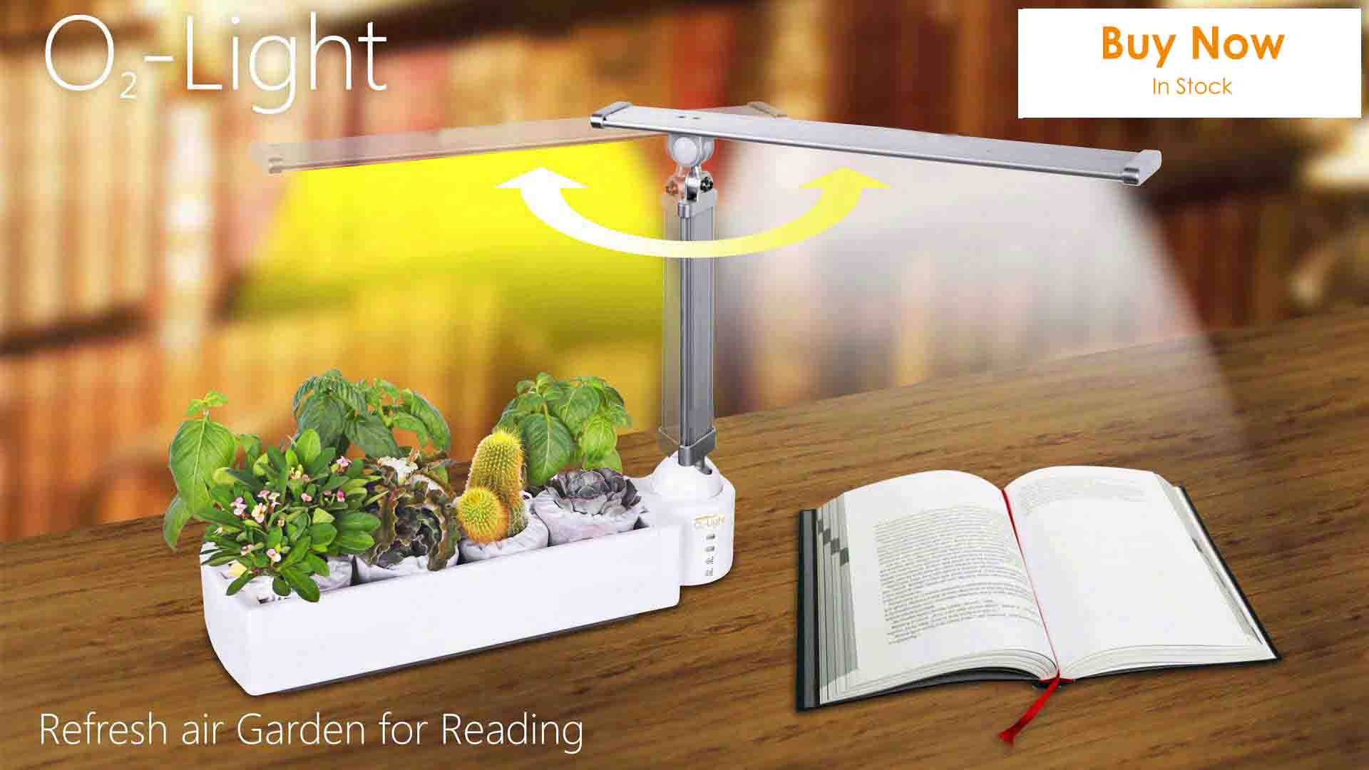 O2-Light-Hydroponics,hydroponic grow system,Refresh air when Reading
